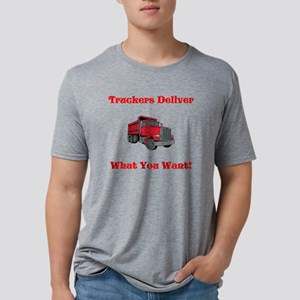 Truckers Deliver Fathers Da Mens Tri-blend T-Shirt