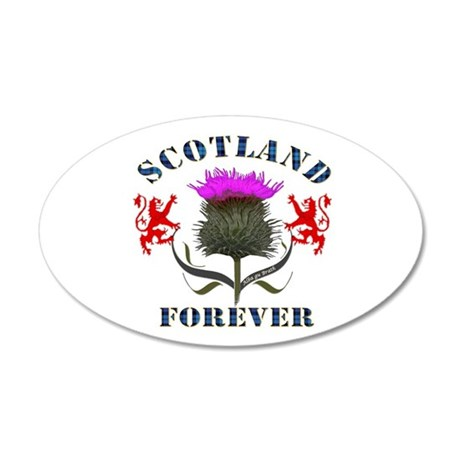Scotland Forever Thistle 35x21 Oval Wall Decal