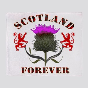 Scotland Forever Thistle Throw Blanket