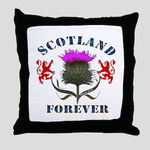 Scotland Forever Thistle Throw Pillow