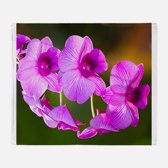 Orchid Wow Throw Blanket