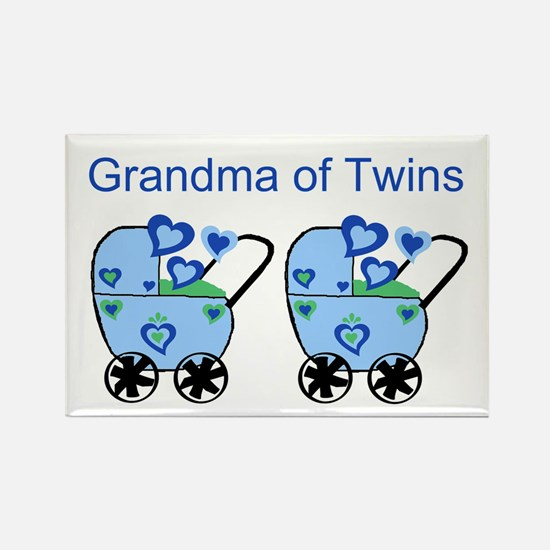 Grandma of Twins (Boys) Rectangle Magnet