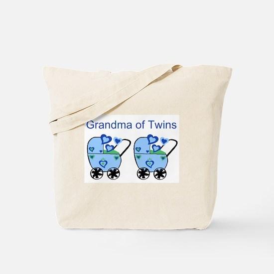 Grandma of Twins (Boys) Tote Bag