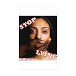Stop Lying Sticker (Rectangle 10 pk)