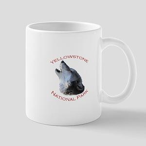 Yellowstone National Park...Wolf Howling Mug