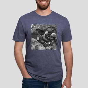 iwo jima Mens Tri-blend T-Shirt