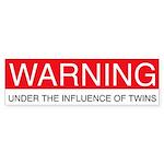 Under Influence of Twins Bumper Sticker