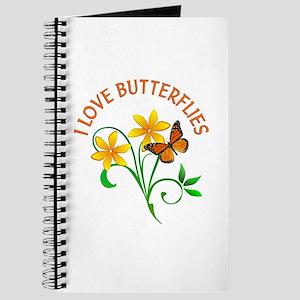 I Love Butterflies Journal