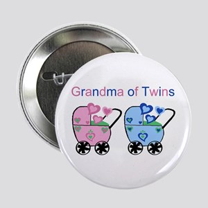 Grandma of Twins (Girl & Boy) Button