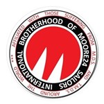 Moore Racing Graphi Round Car Magnet
