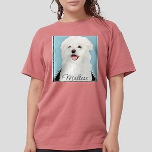 Cute Maltese Womens Comfort Colors Shirt