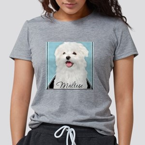 Cute Maltese Womens Tri-blend T-Shirt