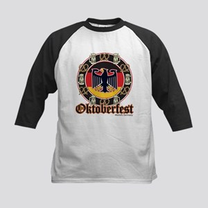 Oktoberfest Beer and Pretzels Kids Baseball Jersey