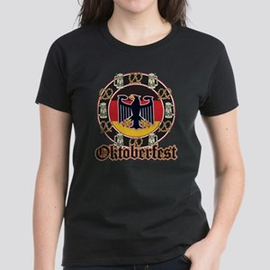 Oktoberfest Beer and Pretzels Women's Dark T-Shirt