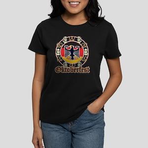 Oktoberfest Beer and Pretzels Women's Dark T-Shirt