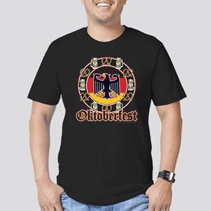 Oktoberfest Beer and Pretzels Men's Fitted T-Shirt