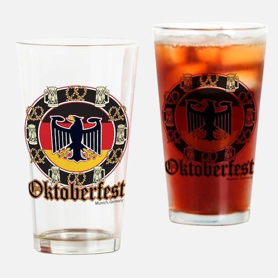 Oktoberfest Beer and Pretzels Drinking Glass