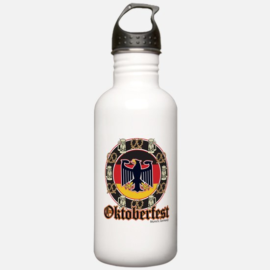 Oktoberfest Beer and Pretzels Water Bottle