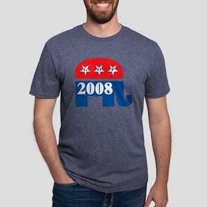 GOP 2008, dark shirts Mens Tri-blend T-Shirt