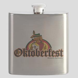 Oktoberfest Dachshund Flask