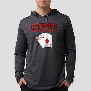 bluffingblack Mens Hooded Shirt