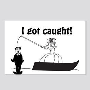 I Got Caught Groom Fishing Postcards (Package of 8