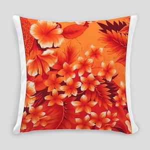 Orange Hibiscus Everyday Pillow