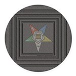OES Square Round Car Magnet