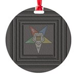 OES Square Round Ornament