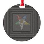 OES Square Round Ornament
