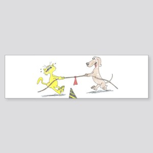 Tug of War Dog Cat Sticker (Bumper)