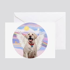 Yellow Labrador Angel Greeting Card