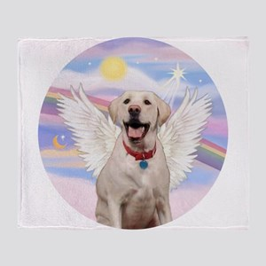 Yellow Labrador Angel Throw Blanket