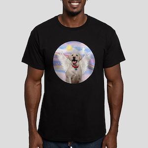 Yellow Labrador Angel Men's Fitted T-Shirt (dark)