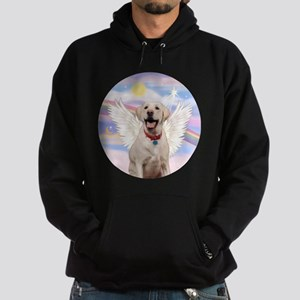 Yellow Labrador Angel Hoodie (dark)