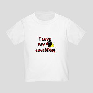 Anime Black Masked Lovebird Toddler T-Shirt
