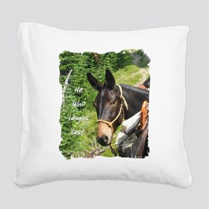 hewholaughs Square Canvas Pillow
