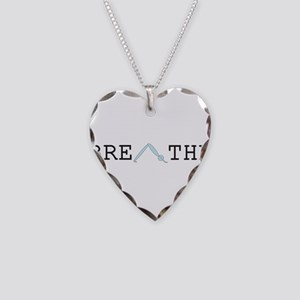 Yoga Breathe 2 Necklace Heart Charm