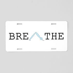 Yoga Breathe 2 Aluminum License Plate