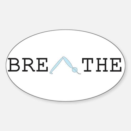 Yoga Breathe 2 Sticker (Oval)