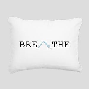 Yoga Breathe 2 Rectangular Canvas Pillow