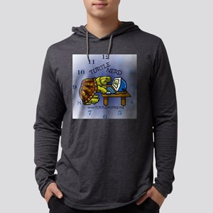 TurtleNerdClock Mens Hooded Shirt
