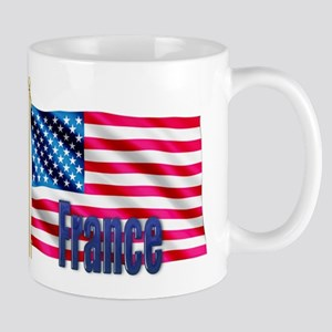 France Personalized USA Flag Mug