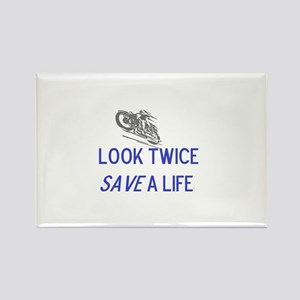Look Twice Rectangle Magnet