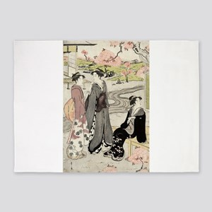 Viewing cherry blossoms in the garden - Eishi Hoso