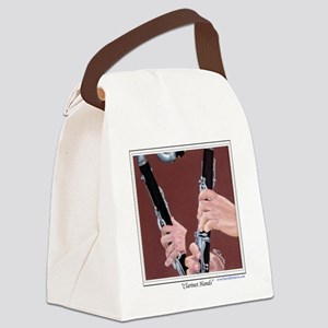 Clarinet Hands Shirt Canvas Lunch Bag