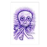 Purple Singing Skull Postcards (Package of 8)