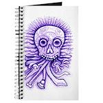 Purple Singing Skull Journal