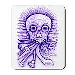 Purple Singing Skull Mousepad