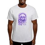 Purple Singing Skull Light T-Shirt